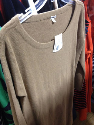 J.Crew Camel Sweater Dress ($30, XS)