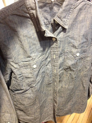 various chambray and denim shirts