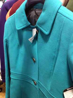 J.Crew Double Cloth Thinsulated Turquoise Coat ($150, Size 4)