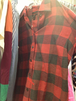 Red Plaid Perfect Fit Button Down ($25, Size 6)