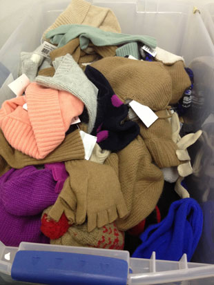 J.Crew hats, scarves and gloves priced at $20 a piece