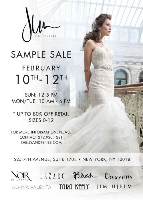 JLM Couture Bridal Sample Sale