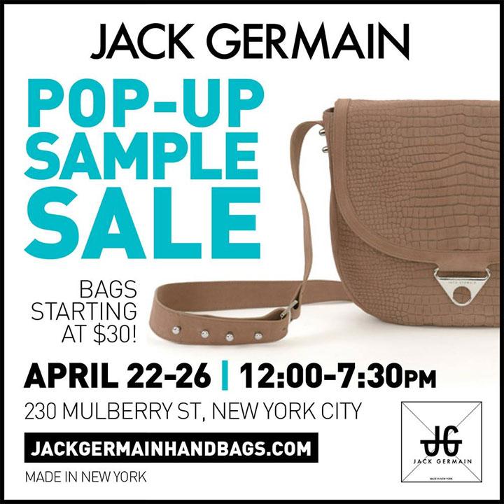 Jack Germain Pop-up Sample Sale