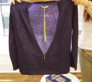 Jack Rogers Navy Zip Front Cardigan Sweater ($115, orig. $239)