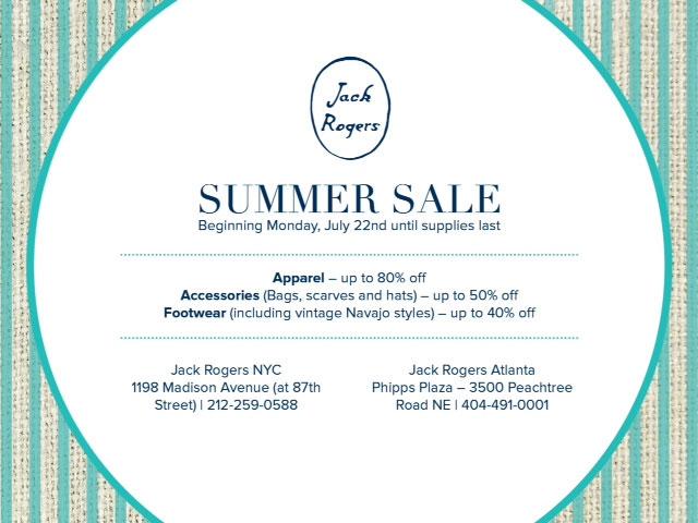 Jack Rogers Summer Sale