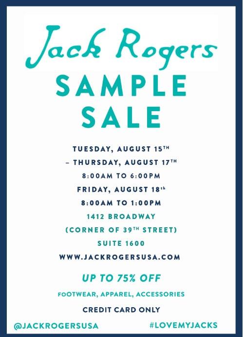 Jack Rogers Sample Sale