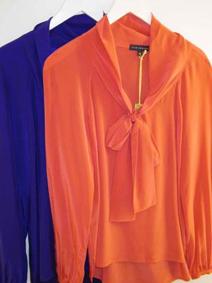 Jack Rogers Tie Neck Silk Blouses ($100, orig. $265)