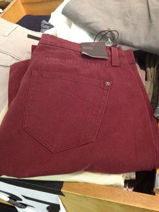 James Jeans Randi the Pencil Leg Jeans in Burgundy ($169)