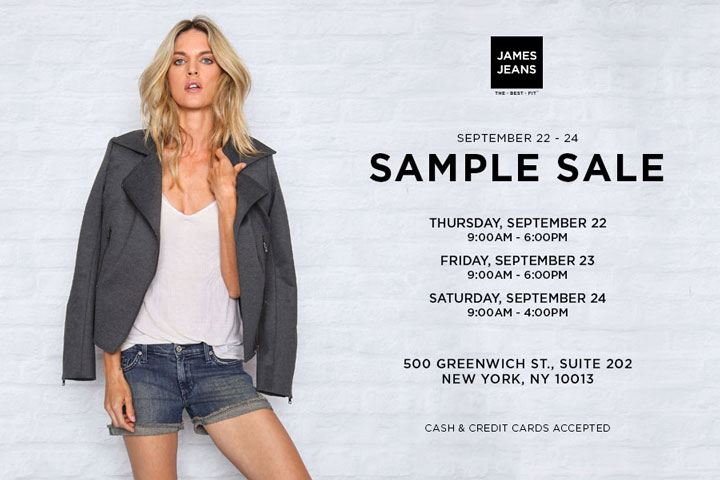 James Jeans Sample Sale