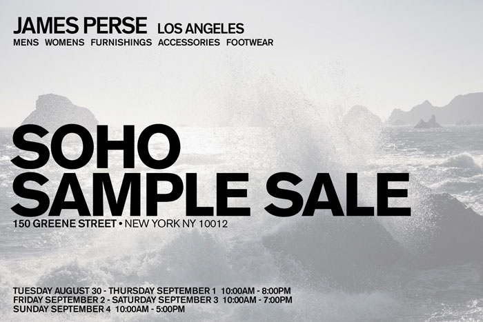 James Perse Clothing & Accessories New York SoHo Sample Sale ...