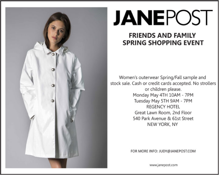 Jane Post Friends & Family Spring Sample Sale