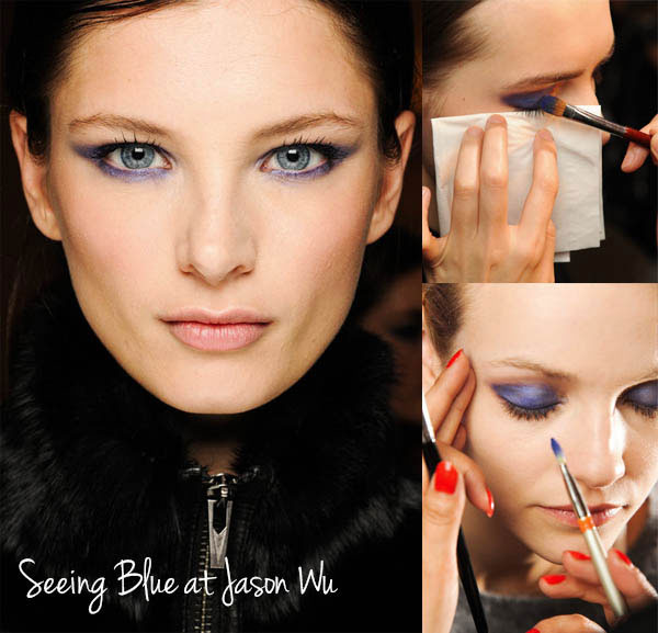Jason Wu's dramatic, bluish-purple eyes Fall 2013 NYFW Beauty Trend