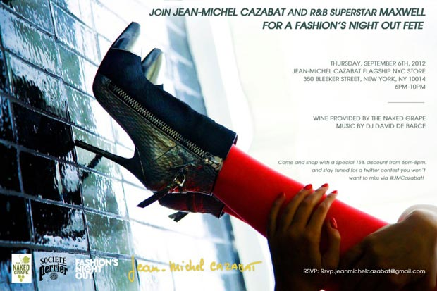 Jean-Michel Cazabat Fashion's Night Out Event