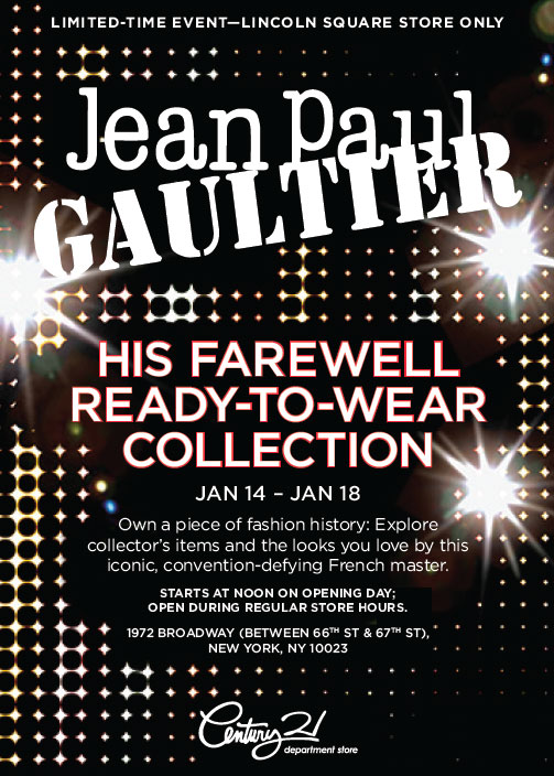Jean Paul Gaultier's Farewell to Ready-to-wear at Century 21 Department Store