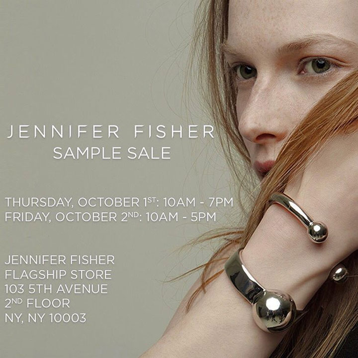 Jennifer Fisher Sample Sale