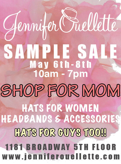 Jennifer ouellette accessories new york sample sale for 1633 broadway 28th floor new york ny 10019