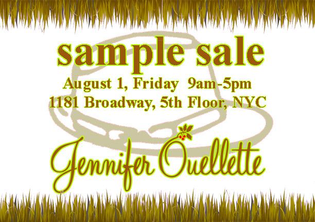 Jennifer Ouellette Sample Sale