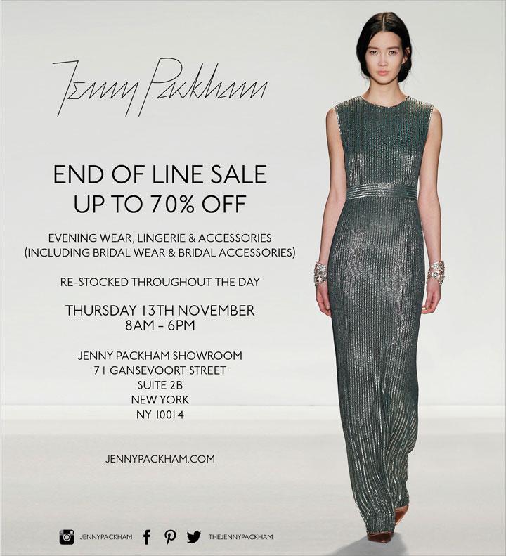 Jenny Packham Sample Sale
