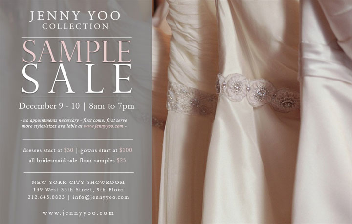 792a93e603a Jenny Yoo Collection Bridalwear   Accessories Sample Sale
