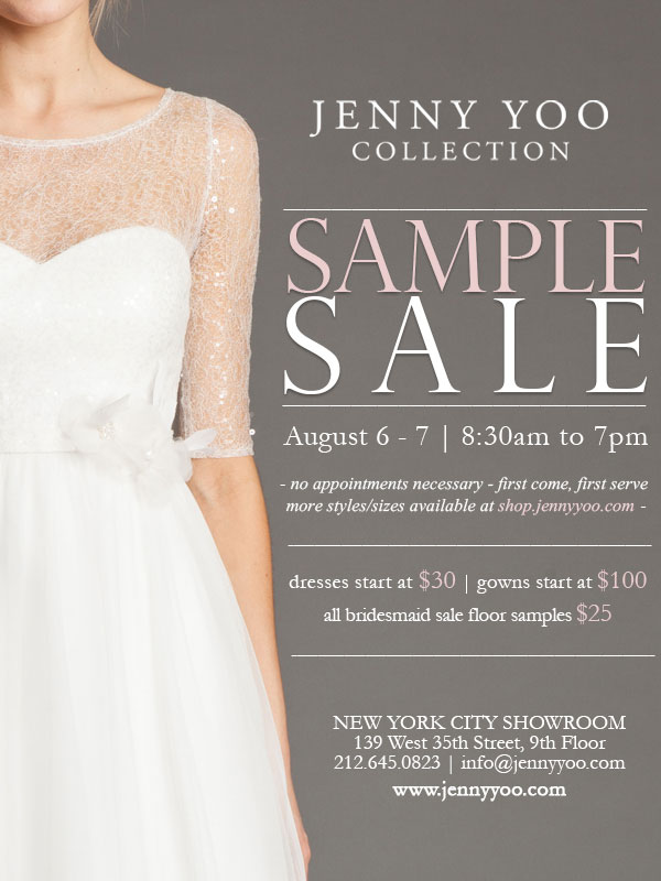 Jenny Yoo Collection Sample Sale