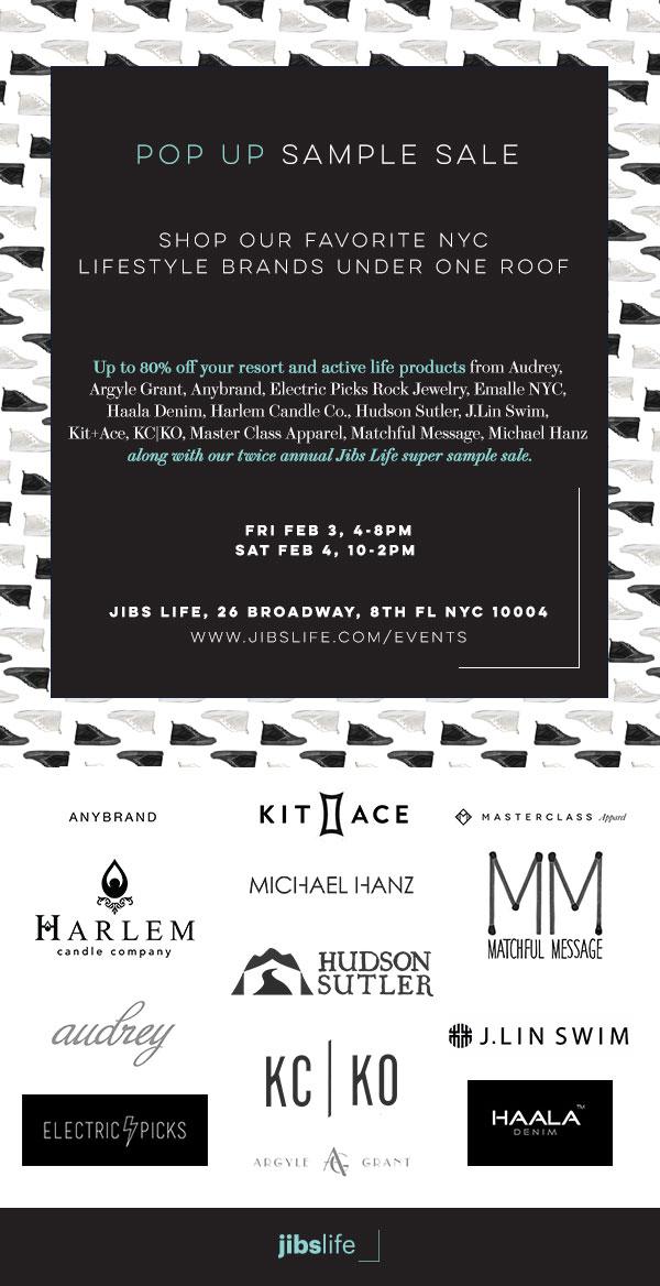 Jibs Life + NYC Brand Pop-Up Sample Sale