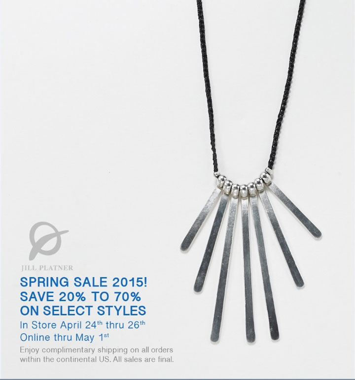 Jill Platner Spring 2015 Sample Sale