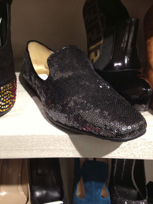 Jimmy Choo had the perfect party flat with their Black Sequin Loafer ($385, orig. $550)