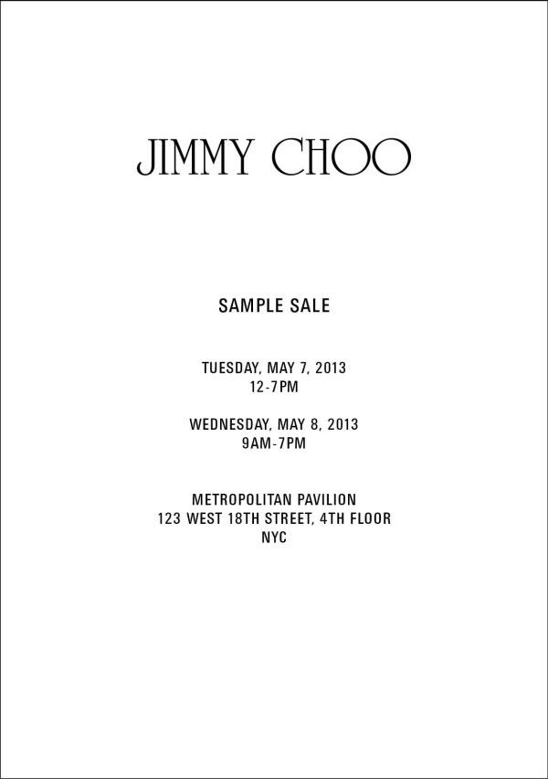 Jimmy Choo Sample Sale