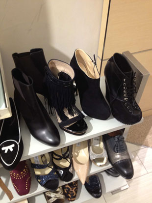 overwhelmed by the selection and size availability of designer shoes