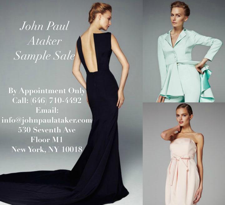 John Paul Ataker Sample Sale