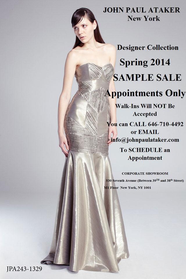 John Paul Ataker Spring 2014 Sample Sale