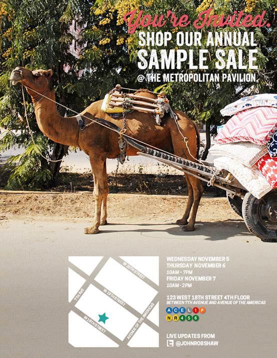 John Robshaw Textiles Home Accessories New York Annual Sample Sale ...
