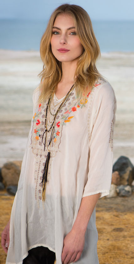 Johnny Was Embroidered Blouse: $50 (orig. $260)