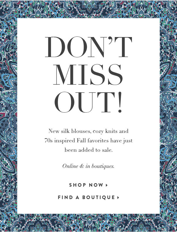 Joie Fall Retail Sale