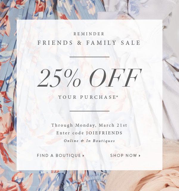 Joie Friends & Family Sale