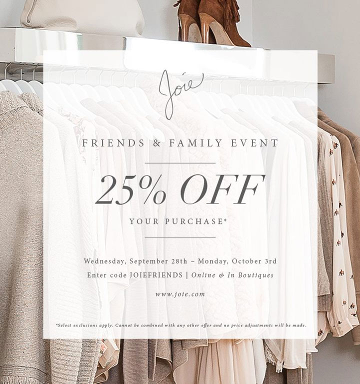 Joie Friends & Family Sale