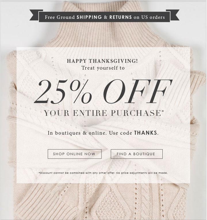 Joie Thanksgiving Sale