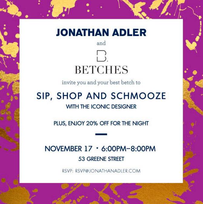 Jonathan Adler + Betches Shopping Event