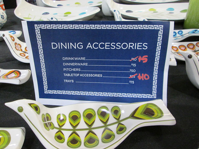 Dining accessories priced $5-75
