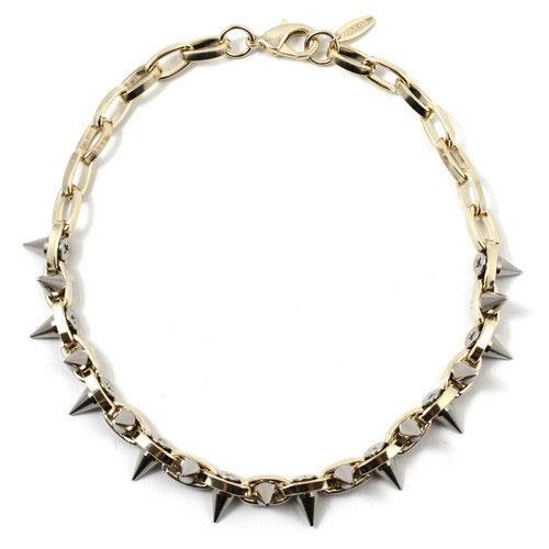 Joomi Lim Metal-luxe double row spike choker - gold/silver spikes: $80 (orig. $162)