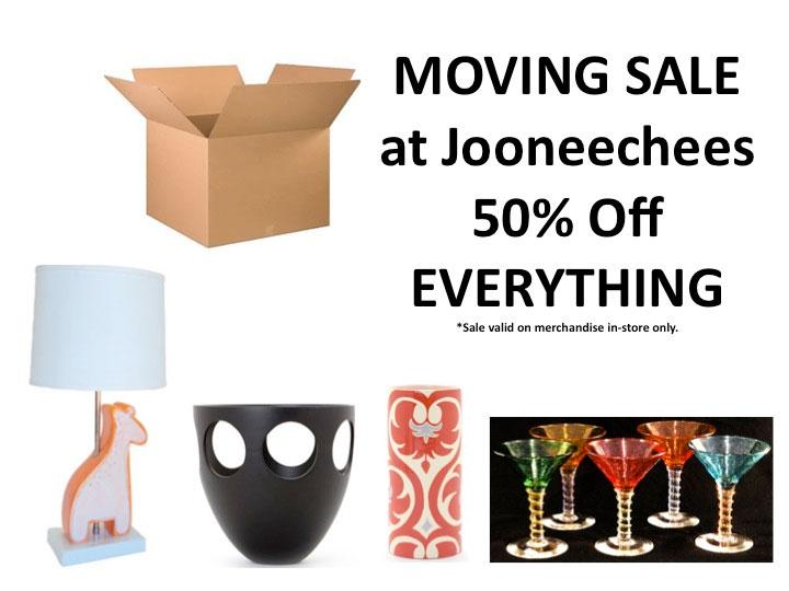 Jooneechees Moving Sale