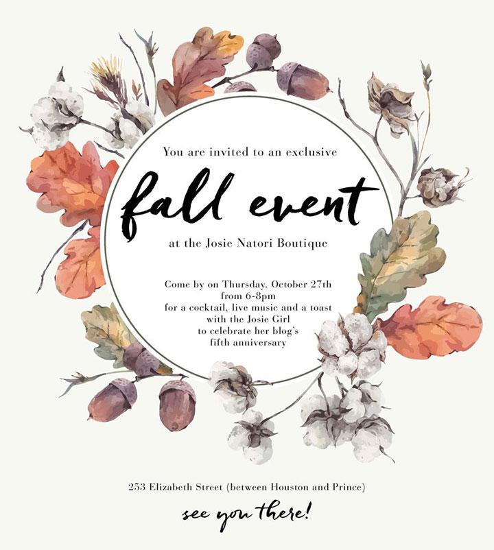 Josie Natori Exclusive Fall Event