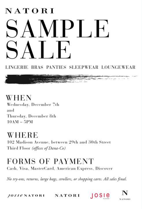 Natori Loungewear Sample Sale