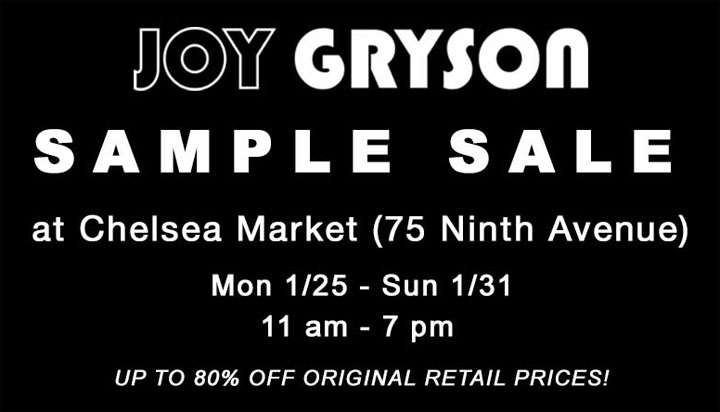 Joy Gryson Sample Sale