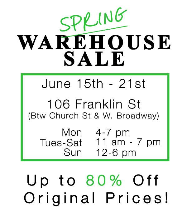 Joy Gryson Spring Warehouse Sale