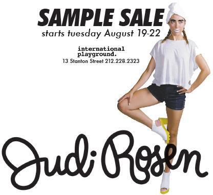Judi Rosen Sample Sale
