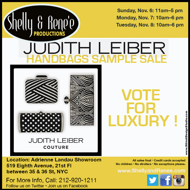 Judith Lieber Luxury Handbags Sample Sale