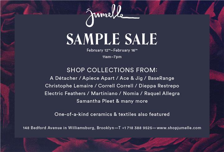 Jumelle Annual Sample Sale