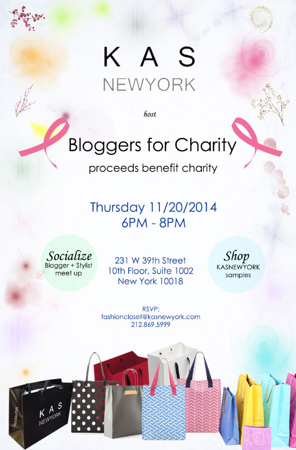 KAS New York Bloggers for Charity Event