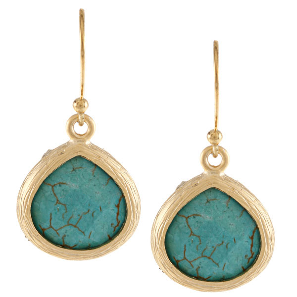 KC Signatures 14K Gold-Plated Sterling Silver Turquoise Earrings - Original Price - $49.99. Sale Price - $5 (90% off)